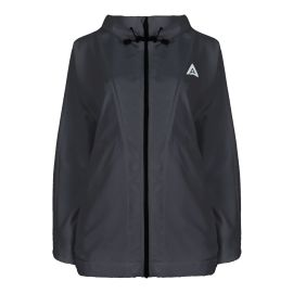 Hooded Windbreaker Jacket - Mont Blanc - Black