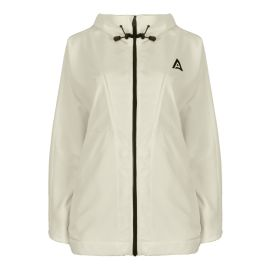Hooded Windbreaker Jacket - Mont Blanc - Ecru