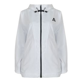 Hooded Windbreaker Jacket - Mont Blanc - White
